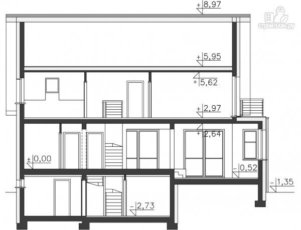 Фото 14: проект трехэтажный каркасный дом с гаражом в цоколе
