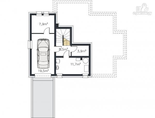 Фото 11: проект трехэтажный каркасный дом с гаражом в цоколе
