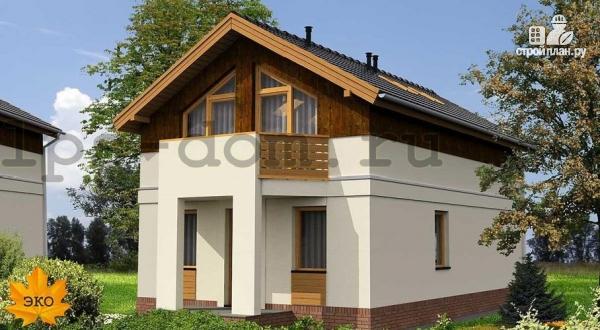 Фото: проект каркасный дом с двумя балконами