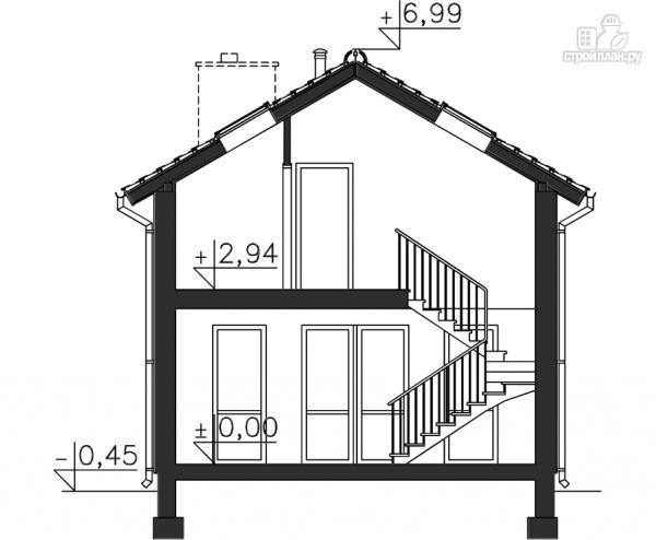 Фото 11: проект каркасный дом с двумя балконами