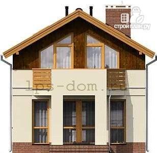 Фото 7: проект каркасный дом с двумя балконами