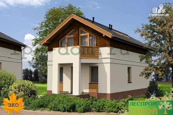 Фото 3: проект каркасный дом с двумя балконами