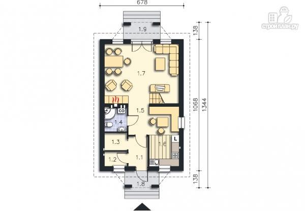 Фото 9: проект каркасный дом с двумя балконами