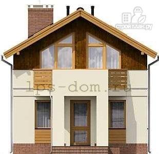 Фото 6: проект каркасный дом с двумя балконами