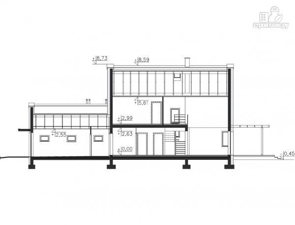 Фото 15: проект каркасный дом со вторым светом и гаражом на две машины