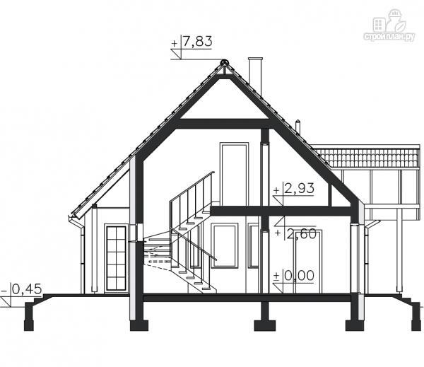 Фото 11: проект каркасный дом с эркером и балконом