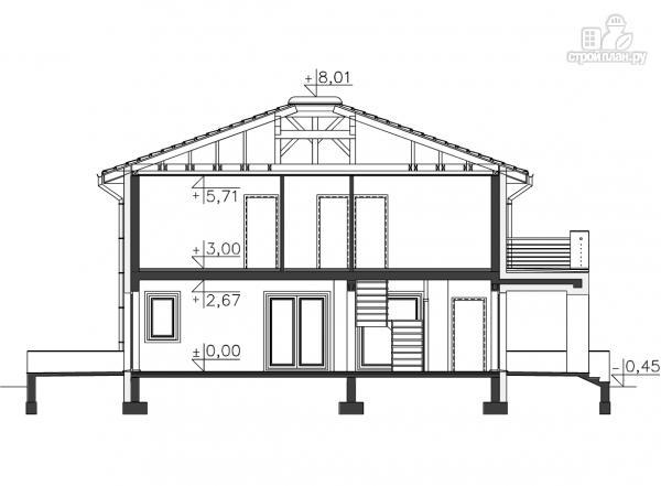 Фото 11: проект современный каркасный дом с гаражом на две машины
