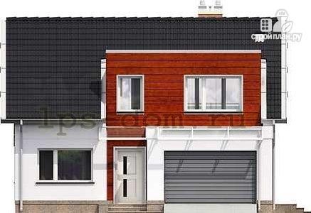 Фото 6: проект каркасный дом модерн с гаражом