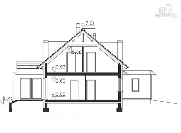 Фото 13: проект каркасный дом модерн с гаражом