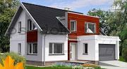 Проект каркасный дом модерн с гаражом