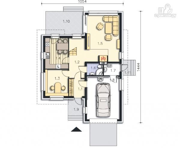 Фото 11: проект каркасный дом модерн с гаражом
