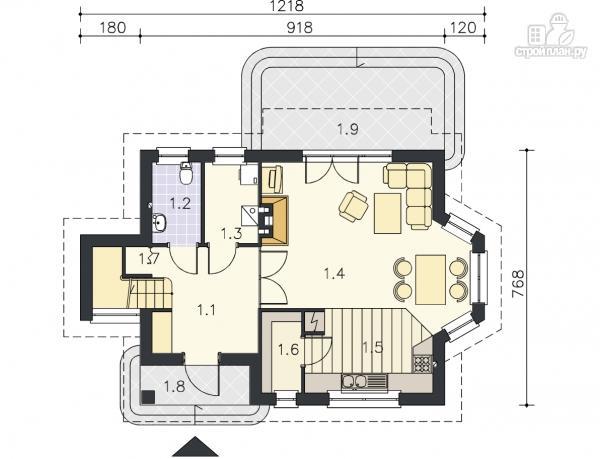 Фото 9: проект дом каркасный с эркером и террасой