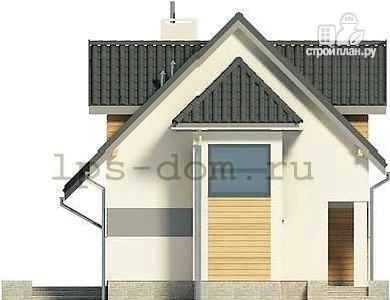 Фото 6: проект дом каркасный с эркером и террасой