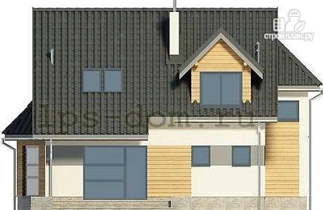 Фото 5: проект дом каркасный с эркером и террасой