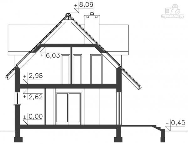 Фото 11: проект дом каркасный с эркером и террасой