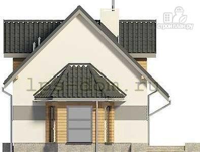 Фото 7: проект дом каркасный с эркером и террасой