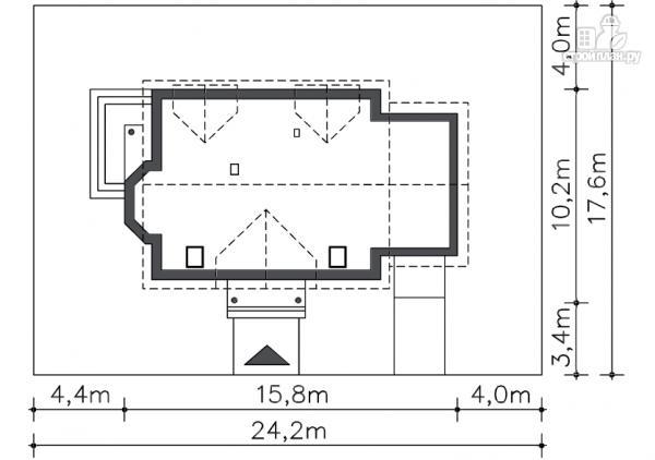 Фото 8: проект каркасный дом с балконами и гаражом
