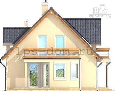 Фото 6: проект каркасный дом с балконами и гаражом