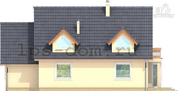Фото 5: проект каркасный дом с балконами и гаражом