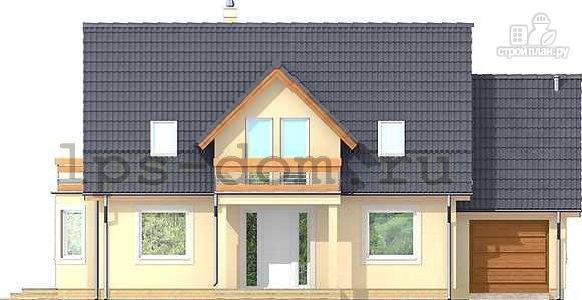 Фото 4: проект каркасный дом с балконами и гаражом
