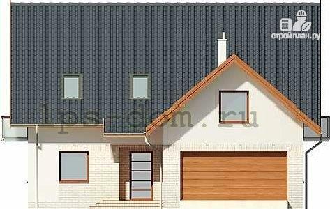 Фото 4: проект каркасный дом с гаражом на две машины