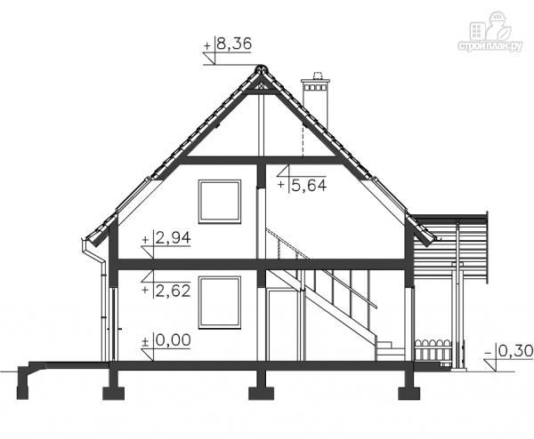 Фото 11: проект каркасный дом с гаражом