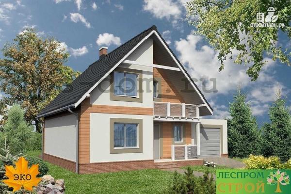 Проект современного дома с плоской крышей: деревянного