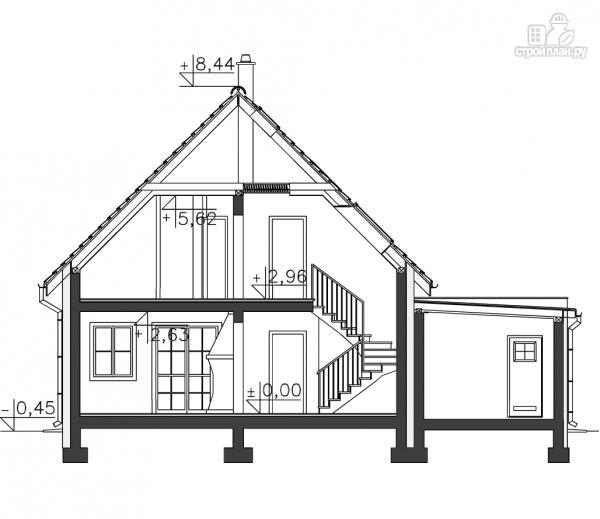 Фото 16: проект каркасный дом с мансардой и гаражом