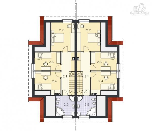 Фото 10: проект каркасный спаренный дом