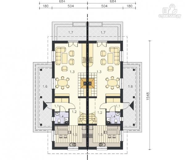 Фото 9: проект каркасный спаренный дом