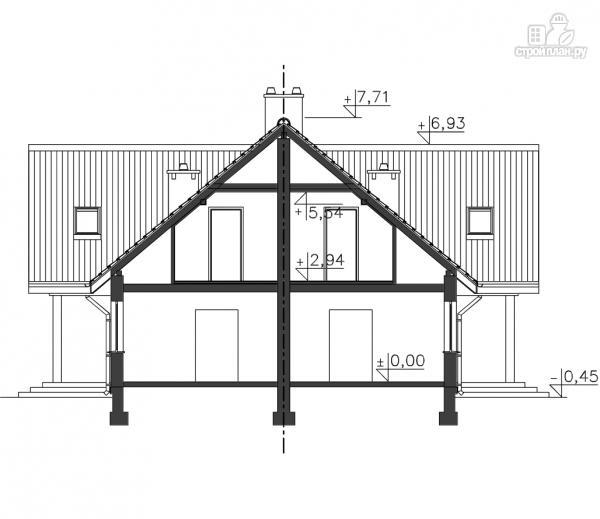 Фото 11: проект каркасный спаренный дом
