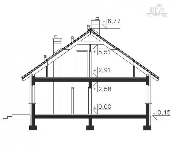 Фото 11: проект каркасный дом с террасой