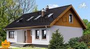 Проект каркасный дом с террасой