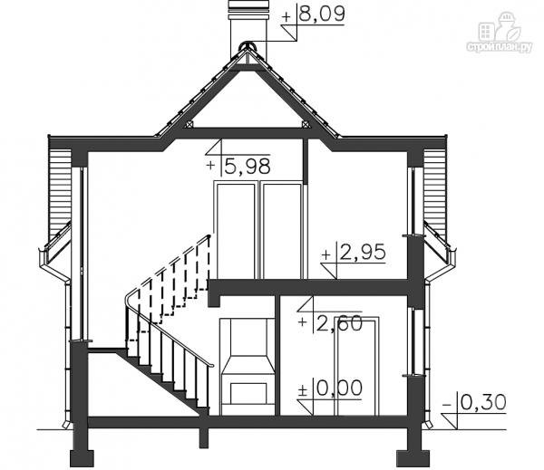 Фото 11: проект каркасный дом с балконом
