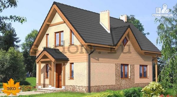Фото: проект каркасный дом с балконом
