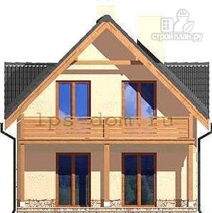 Фото 5: проект каркасный дом с балконом