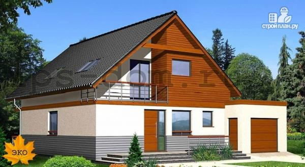 Фото: проект каркасный дом с гаражом