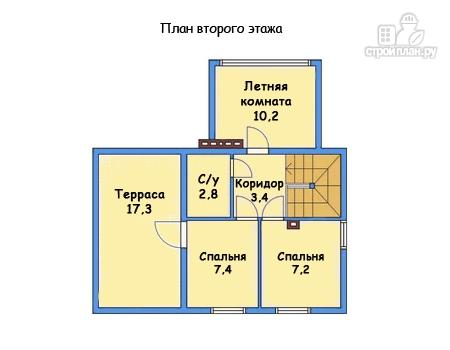 Фото 3: проект каркасный дом с гаражом и террасой на втором этаже