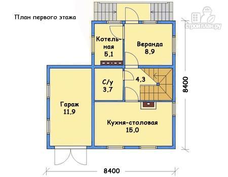 Фото 2: проект каркасный дом с гаражом и террасой на втором этаже