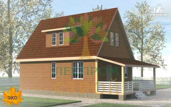 Фото 2: проект каркасный дом с большой террасой