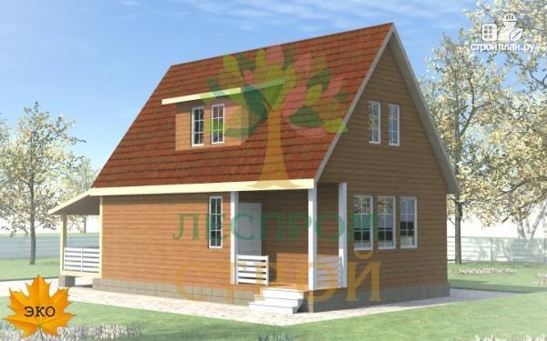 Фото 4: проект каркасный дом с большой террасой