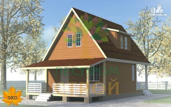 Фото: проект каркасный дом с большой террасой