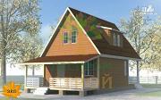Проект каркасный дом с большой террасой