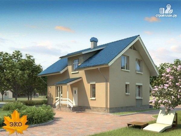Фото: проект каркасный дом с террасой