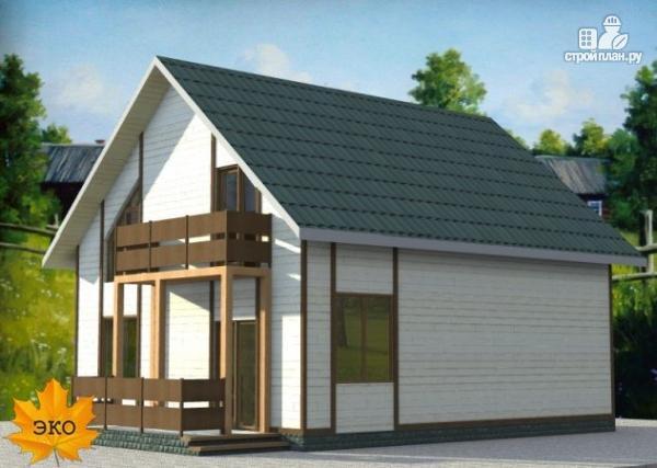 Фото 5: проект дом каркасный с сауной и двумя балконами