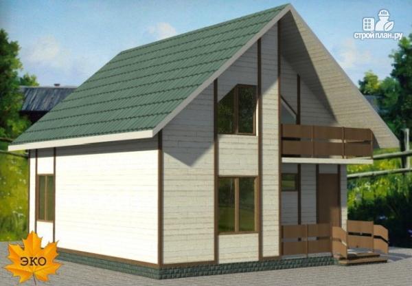 Фото 4: проект дом каркасный с сауной и двумя балконами