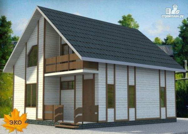 Фото 2: проект дом каркасный с сауной и двумя балконами