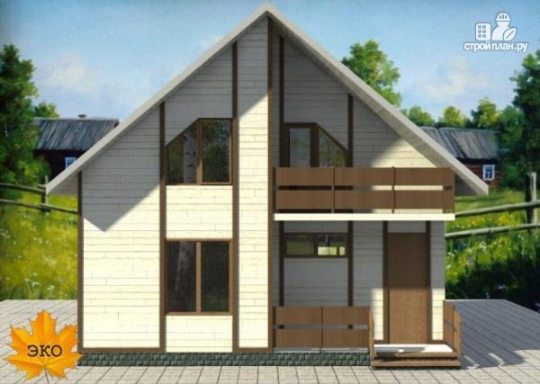 Фото 3: проект дом каркасный с сауной и двумя балконами
