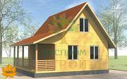 Проект каркасный дом 6х8 с террасой