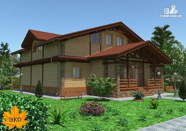 Фото 4: проект каркасный дом с сауной и вторым светом в гостиной